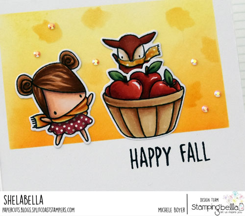 Stamping Bella Littles Fall Fruit and Nature (close-up)