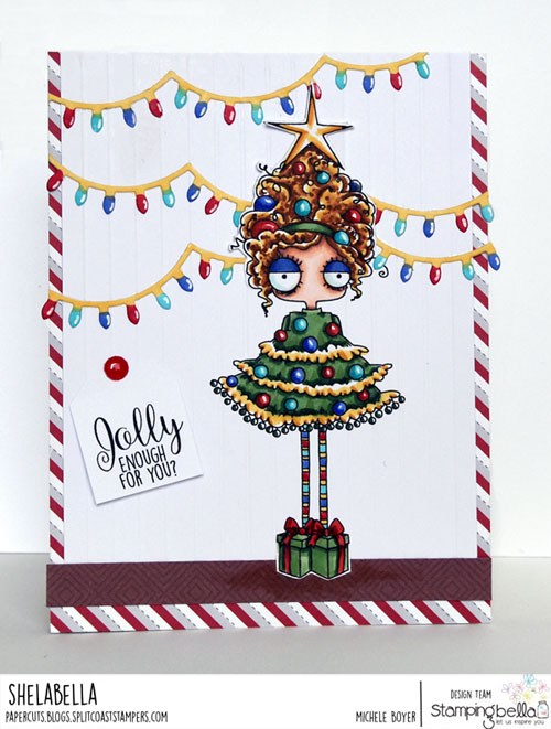 Stamping Bella Christmas Tree Oddball Girl