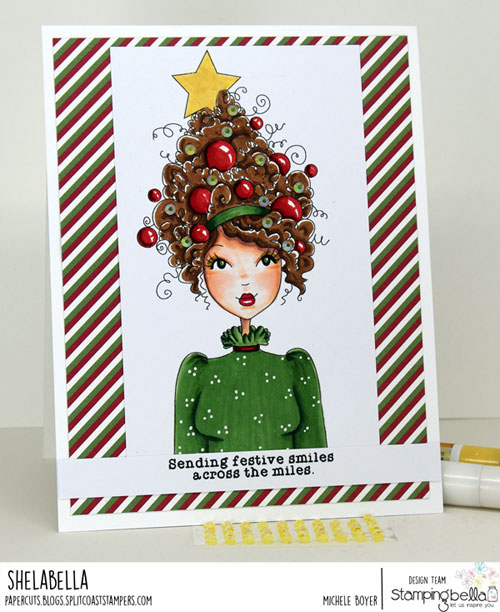 Stamping Bella Mochi Christmas Tree Girl
