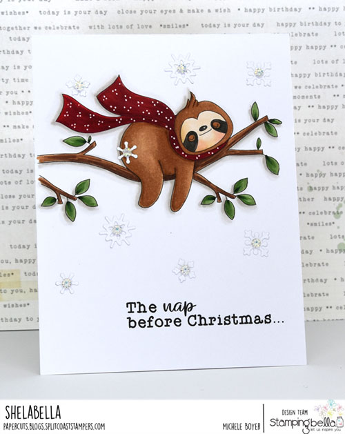 Stamping Bella Sloth on a Branch