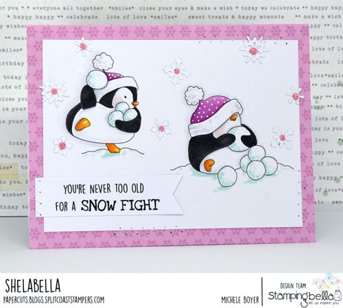 Stamping Bella Snow Fight Penguins