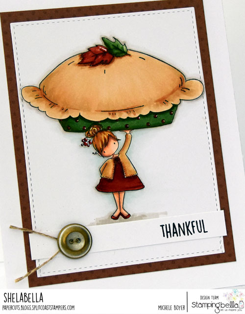 Stamping Bella Teeny Tiny Townie with a Pumpkin Pie (close-up)