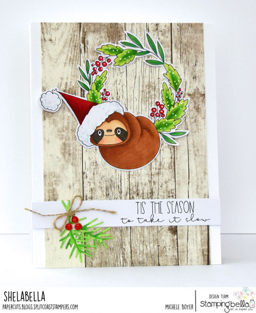 Stamping Bella Sloth Wreath