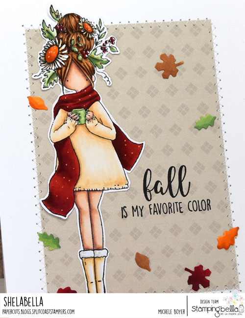 Stamping Bella Curvy Girl Loves Autumn (close-up)