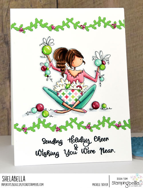 Stamping Bella Ophelia & Odelia Love Ornaments