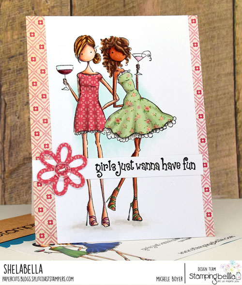Stamping Bella Victoria & Juliette's Night Out