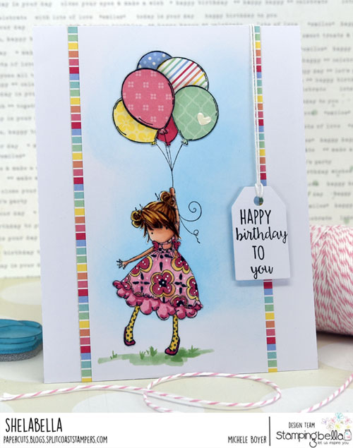 Stamping Bella Tiny Townie Blossom Loves Balloons