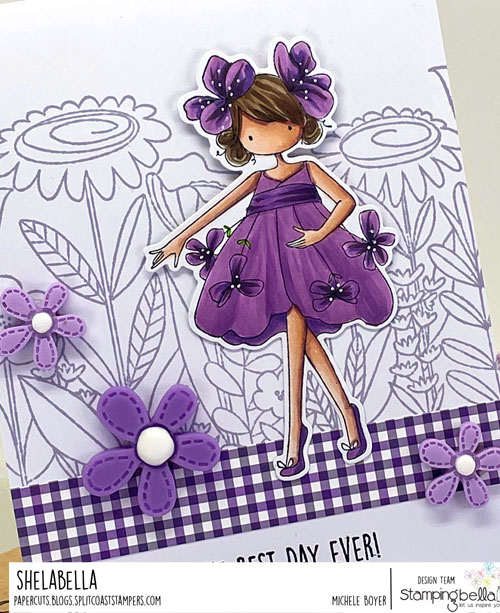 Stamping Bella Tiny Townie Garden Girl Violet (close-up)