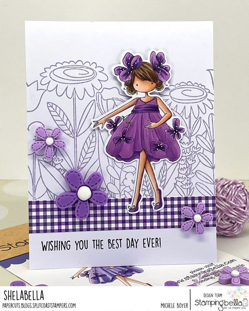 Stamping Bella Tiny Townie Garden Girl Violet
