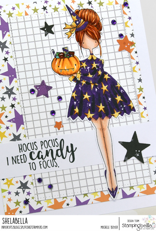 Stamping Bella Curvy Girl Loves Halloween (close-up)